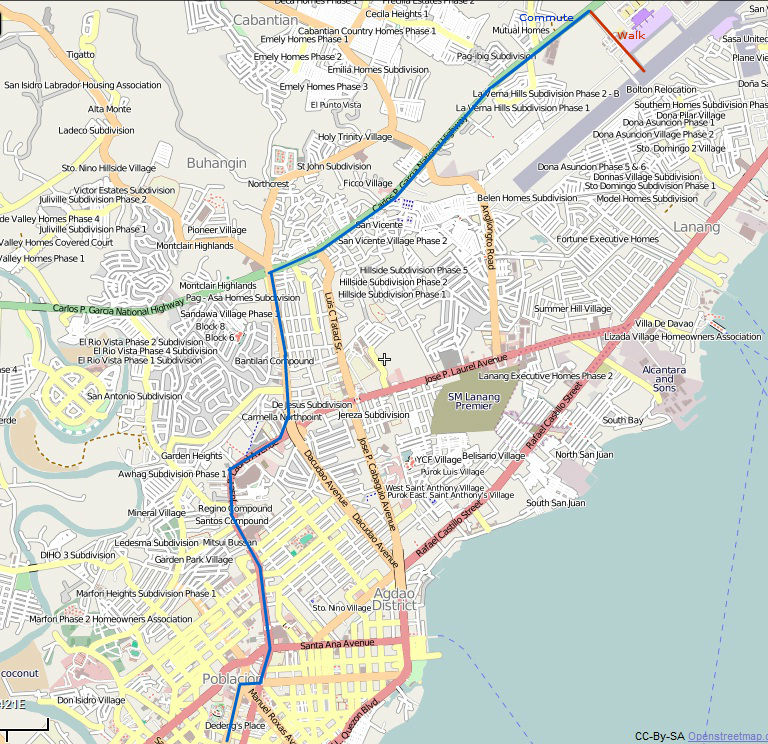On A Map Davao City